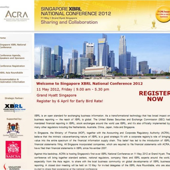 Singapore XBRL Conference Website