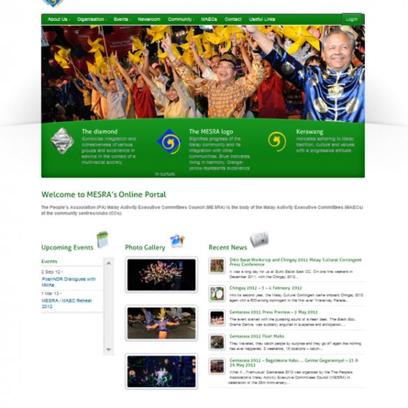 MESRA CMS Website