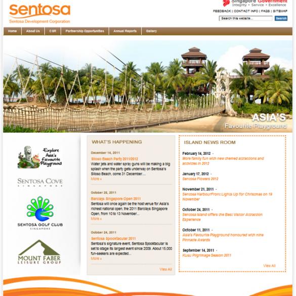 Sentosa CMS Website