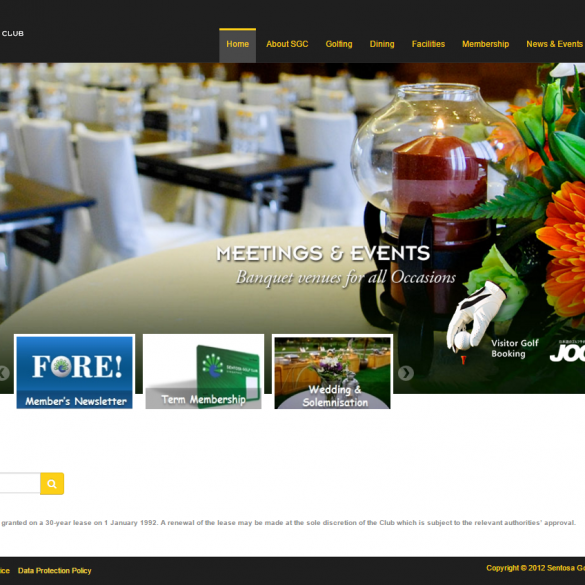 Sentosa Golf Club Website