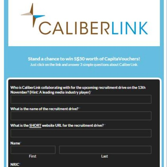 CaliberLink Facebook Quiz