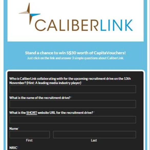 CaliberLink Facebook Quiz